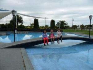 The paddling pool at Caroline Bay is the children's favorite.