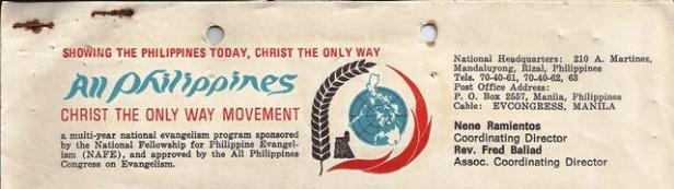 christ the only way movement philippines