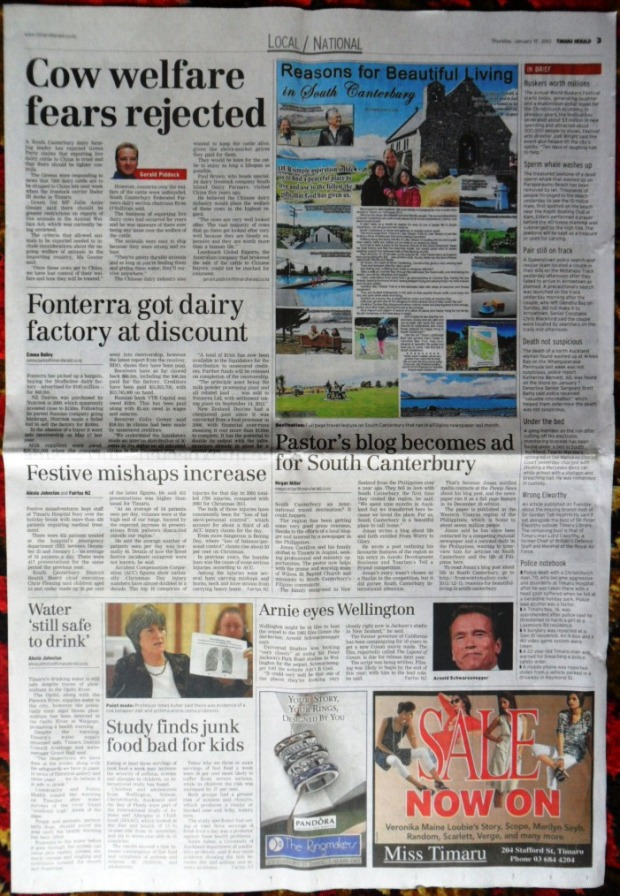The Timaru Herald page