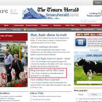 Our Blog is on The Timaru Herald