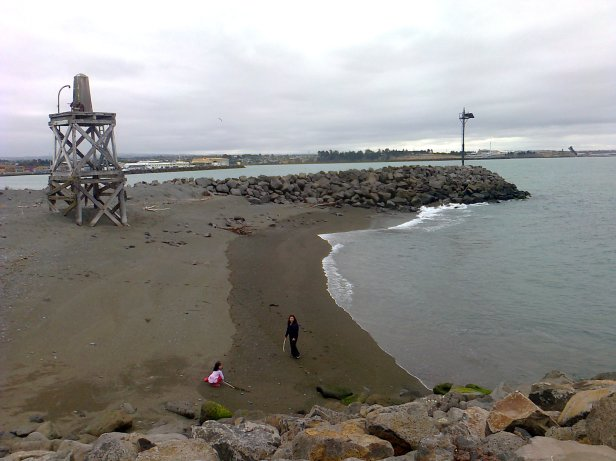 Timaru Port Shingle Beach