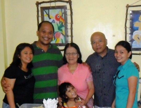 Nenita and Malvar Castillon family